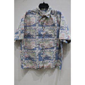 Reyn Spooner Detrich Varez Hawaiian Shirt Men L/XL